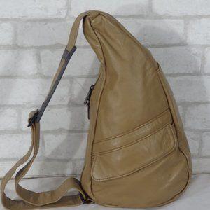 Ameribag Healthy Back Bag Taupe Leather Sling Bag